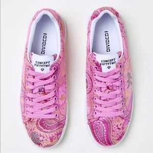 H&M Divided Pink Paisley Sneakers